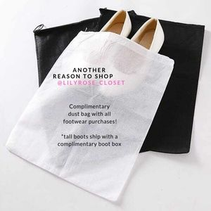 Complimentary dustbag with all footwear purchases!